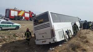 واژگونی اتوبوس زائران عراقی در لرستان 22 مصدوم برجای گذاشت
