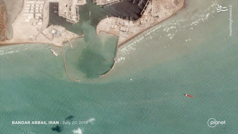 عکس/ نمایی متفاوت از نفتکش انگلیسی توقیفشده در بندرعباس