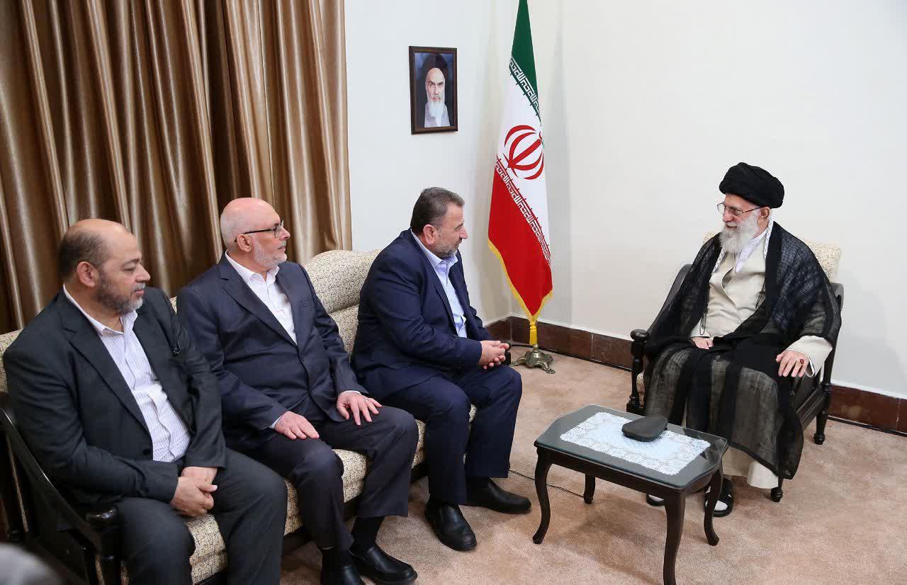 دیدار مقامات حماس با رهبر انقلاب+عکس