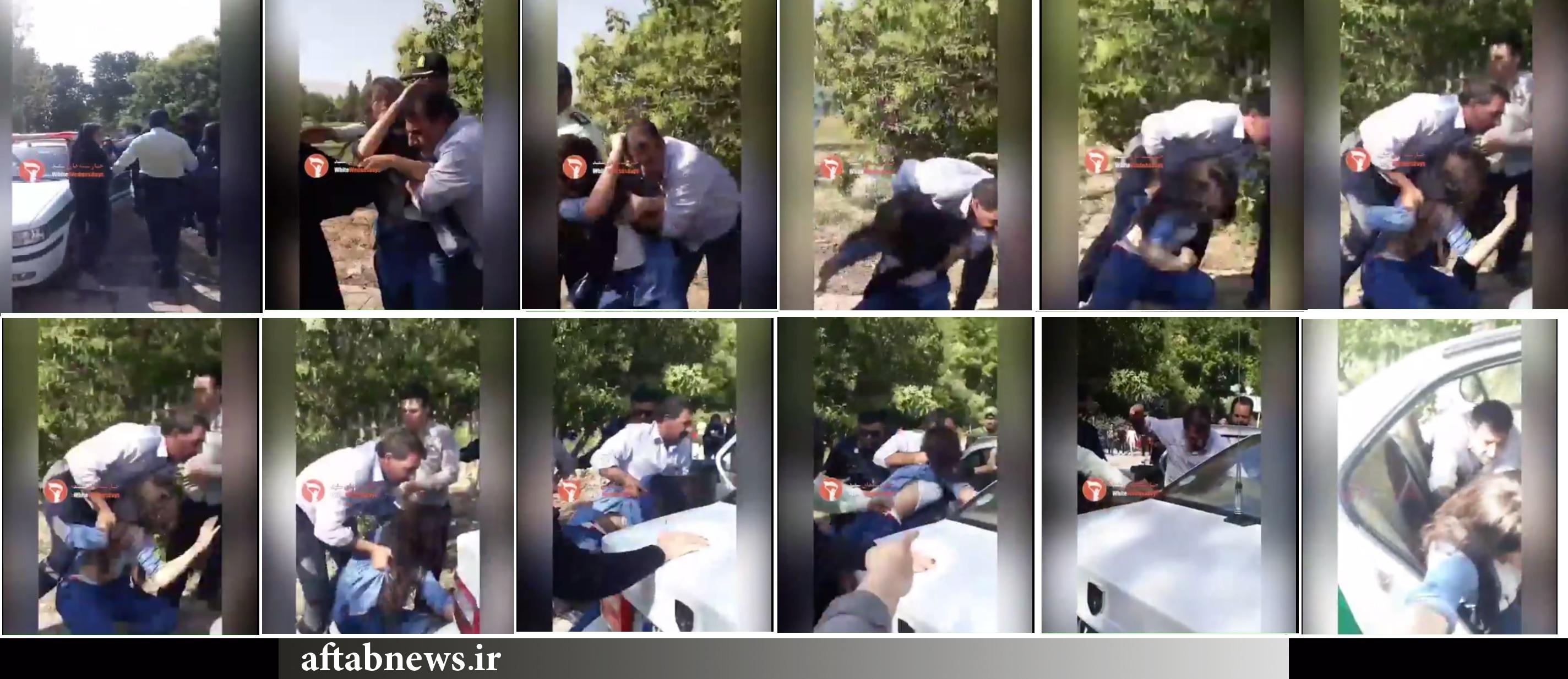 توضیحات تازه پلیس درباره ویدئوی درگیری مامور ناجا با دختر جوان در تهرانپارس: مردم بدانند ابتدا این دختر خانم تعرض کرده و مأمور هم عصبانی شده!