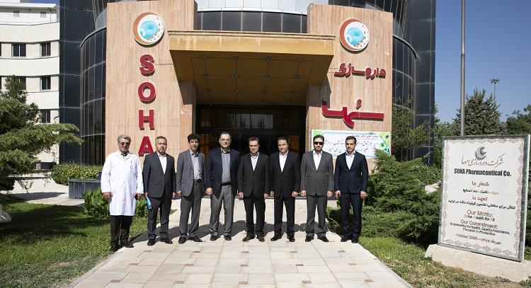 تقویت همکاری با شرکت داروسازی سها در دستور کار بانک ملت