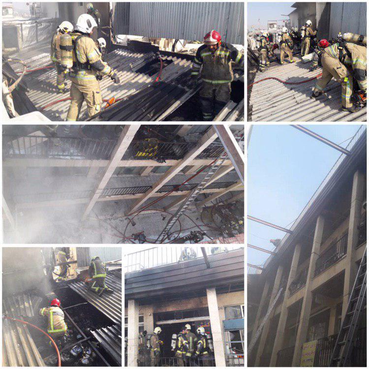 آتشسوزی در بازار تهران / ۳۰ نفر نجات یافتند+عکس