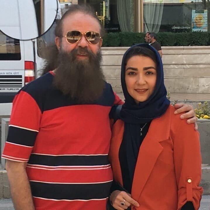 عکس  خانم بازیگر در کنار همسری که ۲۸ سال از او بزرگتر است