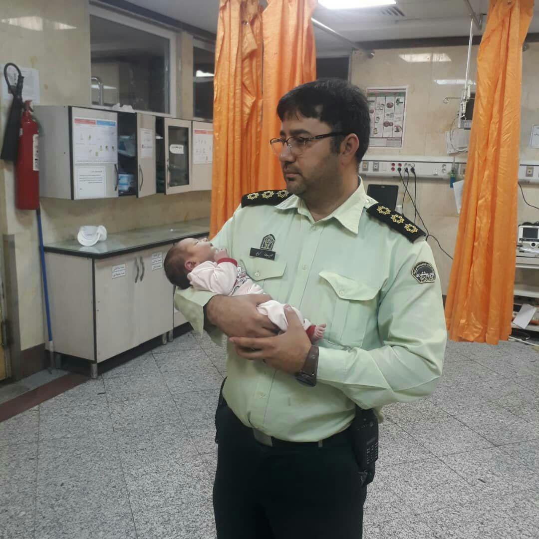 پیدا شدن نوزاد هشت روزه در پارک