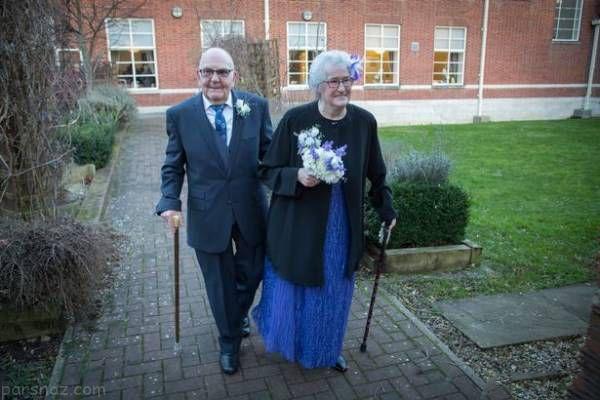 مراسم ازدواج عروس ۸۰ ساله و داماد ۹۱ ساله+عکس