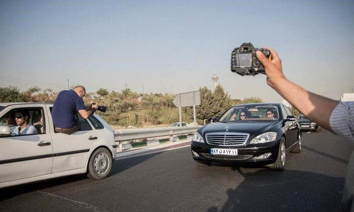 نیکی کریمی در ماشین لاکچری امیر قلعهنویی+تصاویر
