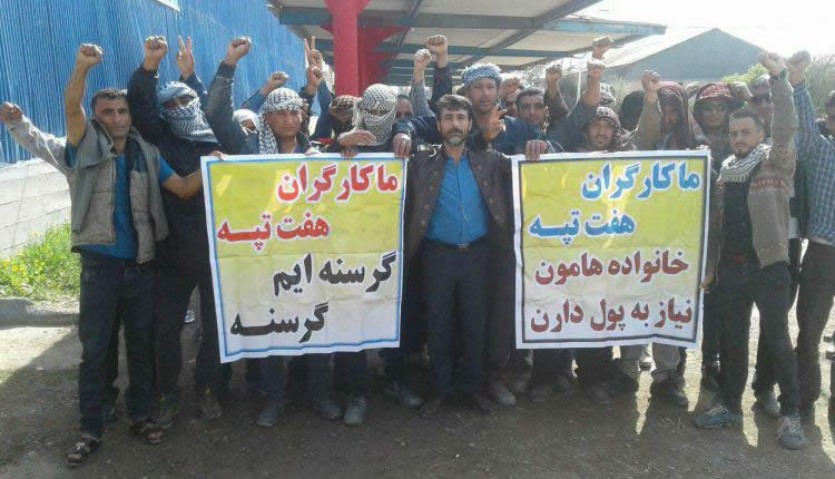 بازداشت شبانه کارگران هفت تپه