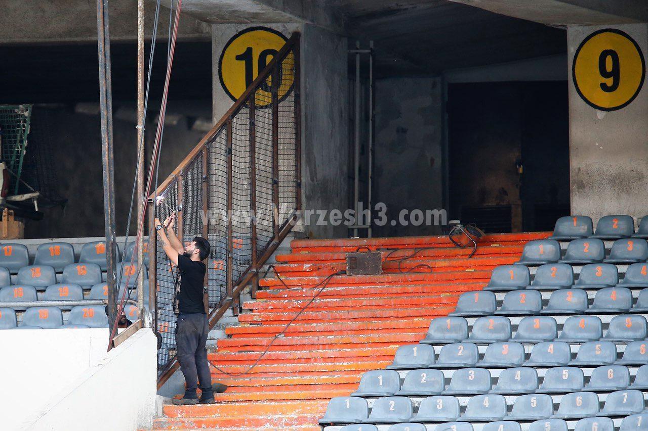 جایگاه زنان در ورزشگاه آزادی حفاظ کشی شد+تصاویر