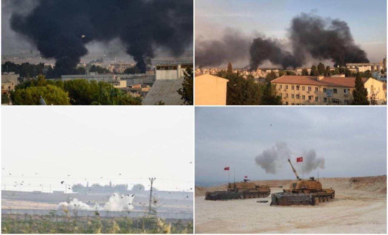 اولین پاسخ کردها به ترکیه   شهر «نصیبین» ترکیه هدف حمله خمپاره ای قرار گرفت