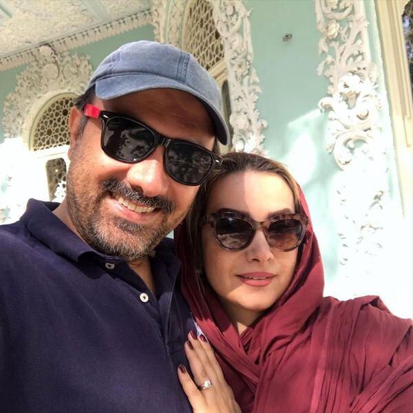 برزو ارجمند و همسرش/عکس