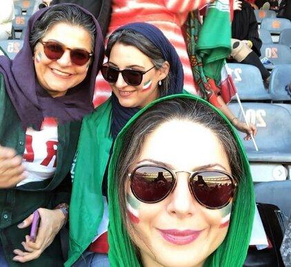 عکس| سولماز غنی در ورزشگاه آزادی