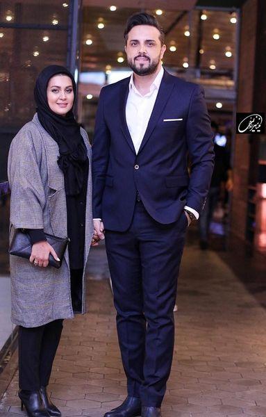 عکس آقای مجری خوشتیپ و همسرش