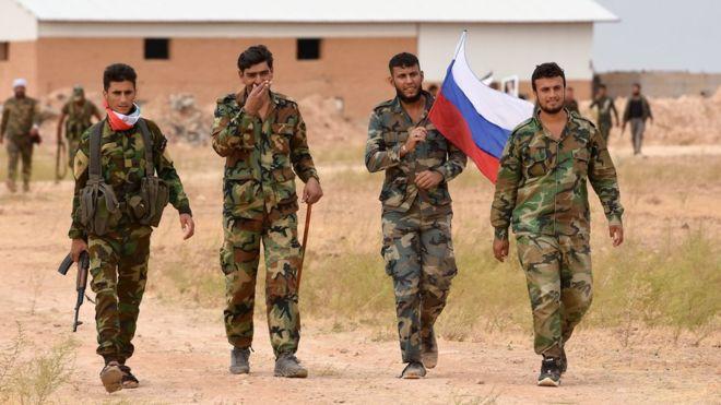 نیروهای ارتش سوریه و روسیه وارد کوبانی شدند