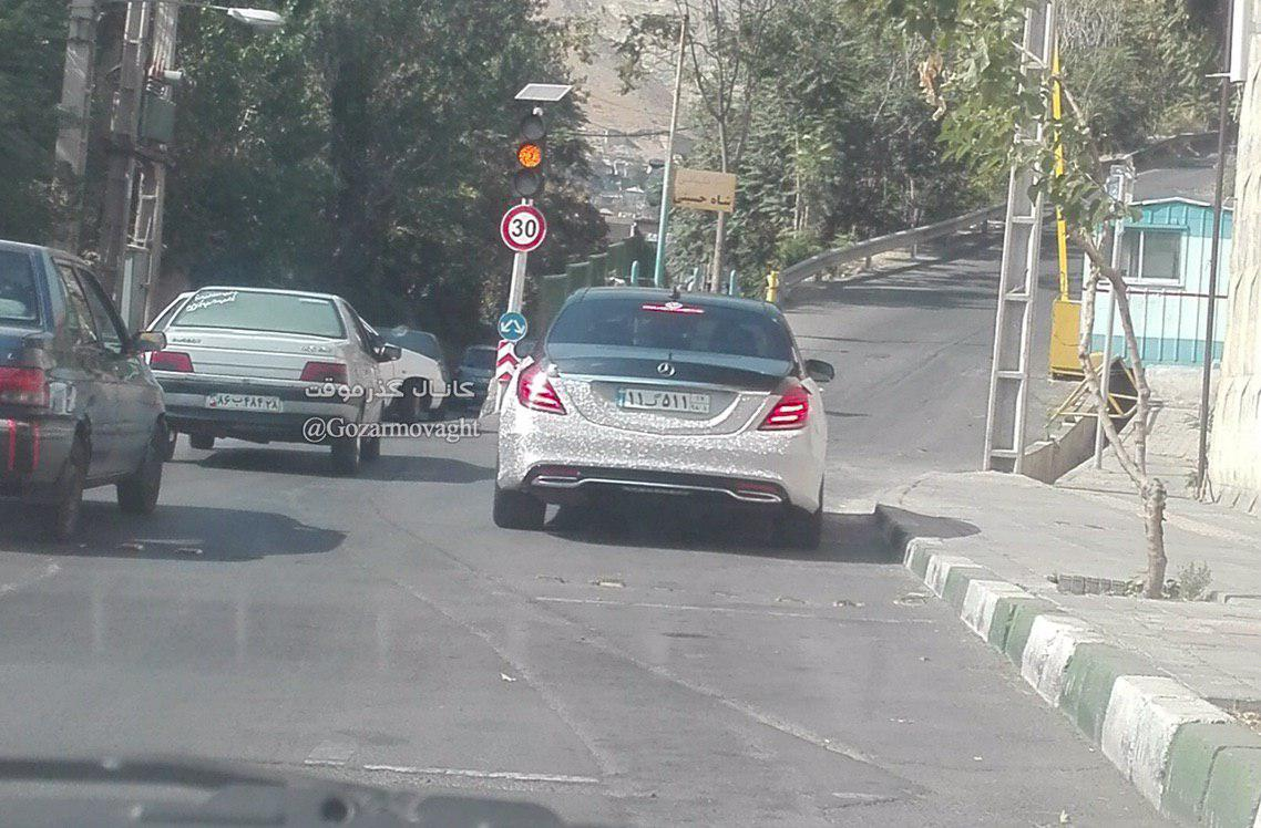 مرسدس بنز جواهرنشان در ایران+عکس