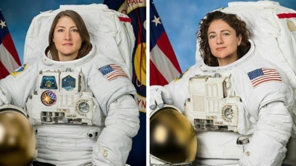 اولین پیادهروی فضایی تمام زنانه+عکس
