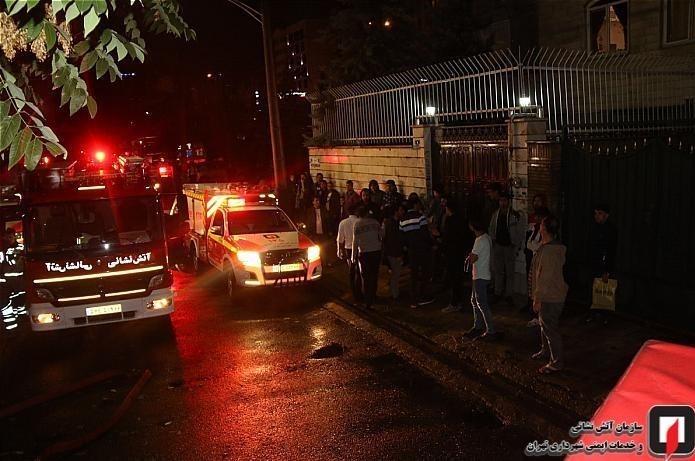 حبس ۲۰ نفر به خاطر آتشسوزی L۹۰ در سعادتآباد + عکس