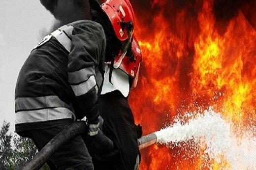 بازار رضا مشهد آتش گرفت
