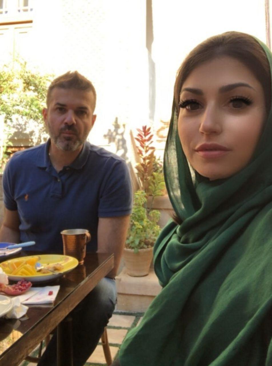 عکس  استراماچونی و همسرش در شیراز