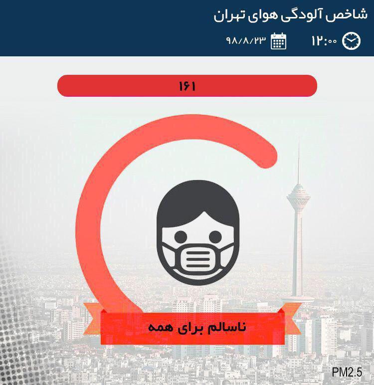 هوای تهران برای همه گروهها ناسالم شد