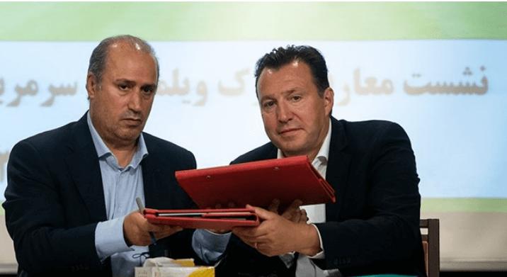 مارک ویلموتس از تیم ملی فوتبال ایران جدا شد