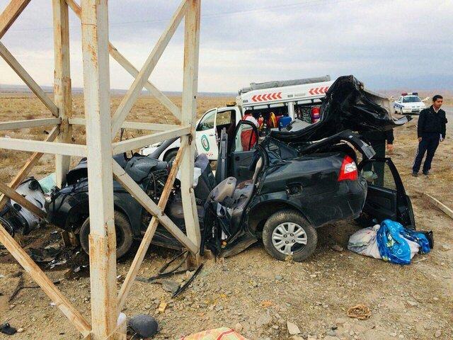 تصادف مرگبار در نیشابور/ 3 نفر کشته شدند