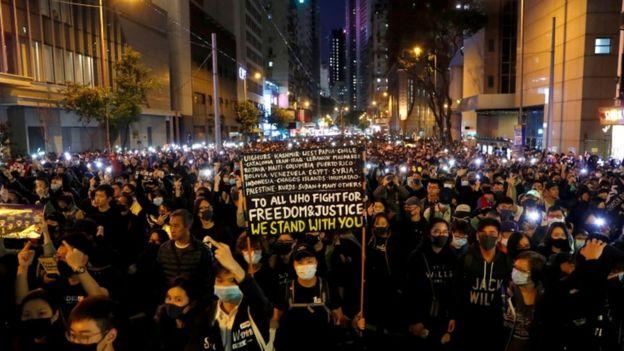 بزرگترین تظاهرات ضددولتی در هنگکنگ+فیلم