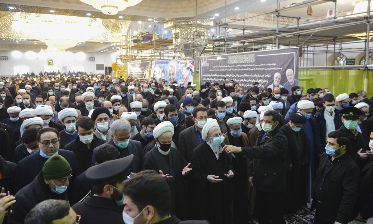 تصاویر| مراسم وداع با پیکر آیتالله مصباحیزدی در تهران