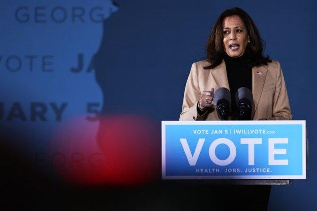 """کامالا هریس تماس ترامپ با فرماندار جورجیا را """"سواستفاده گستاخانه از قدرت"""" خواند"""