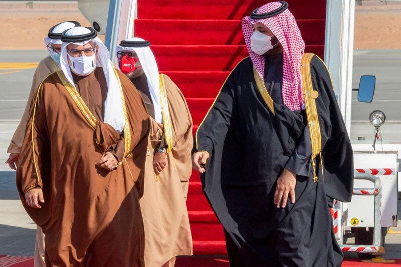 بن سلمان به استقبال امیر قطر رفت /عکس