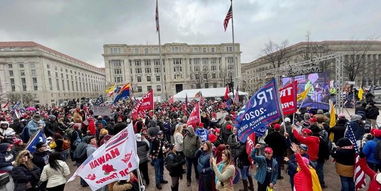 هواداران ترامپ مقابل کنگره تجمع کردند