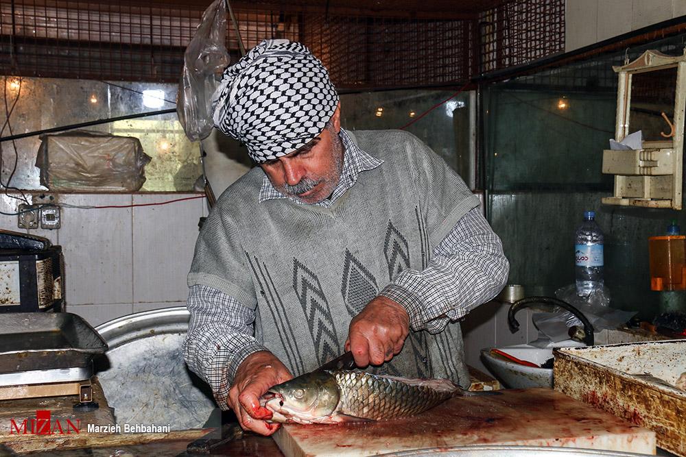 تصاویر| بازار ماهیفروشان خرمشهر