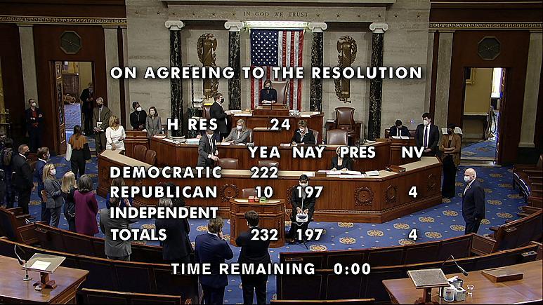 تصویب طرح استیضاح ترامپ در مجلس آمریکا؛ ترامپ عزل میشود؟