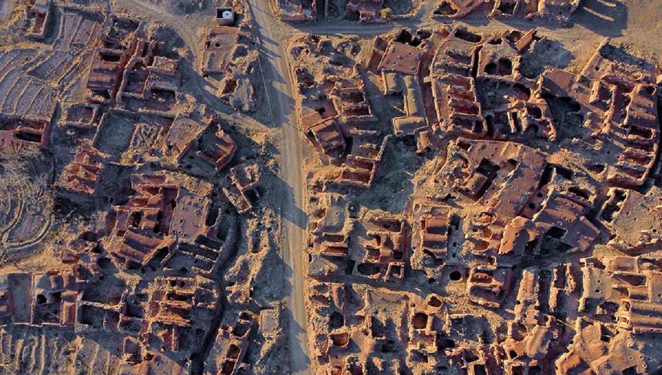 تصاویر| روستای گیسک، معماری بینظیر اما خالی از سکنه