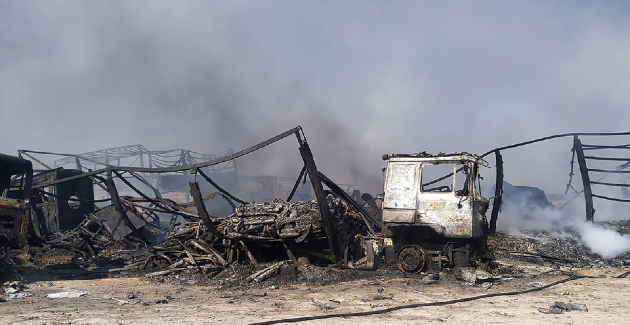 تصاویر| گمرک اسلامقلعه افغانستان پس از انفجار