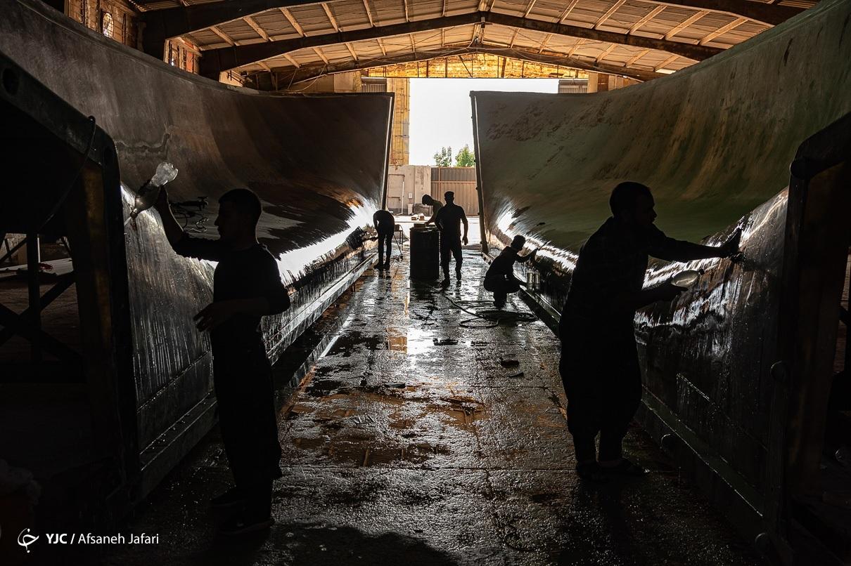 تصاویر  ساخت لنج در بوشهر