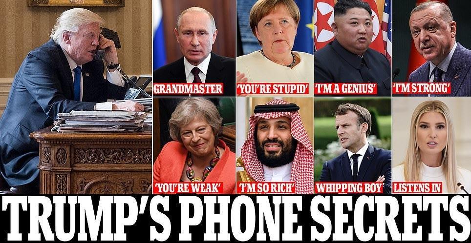 افشای جزئیات مکالمات ترامپ با رهبران جهان