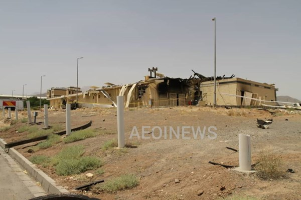 اولین تصویر از حادثه در سایت هستهای نطنز