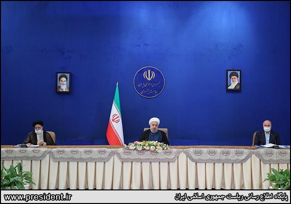 تصاویر| جلسهای با حضور روحانی، رئیسی و قالیباف برای بررسی مسائل اقتصادی