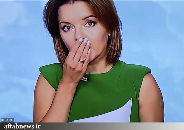 عکس| مجری تلویزیون حین خواندن خبر بیدندان شد