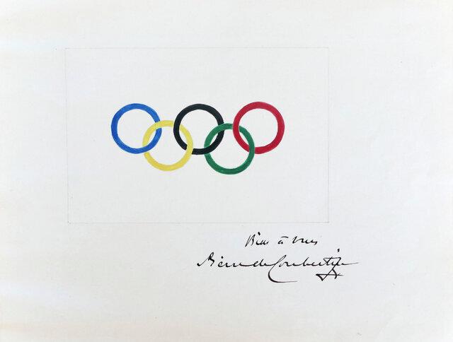 نقاشی اصلی پنج حلقه المپیک به فروش رفت/عکس