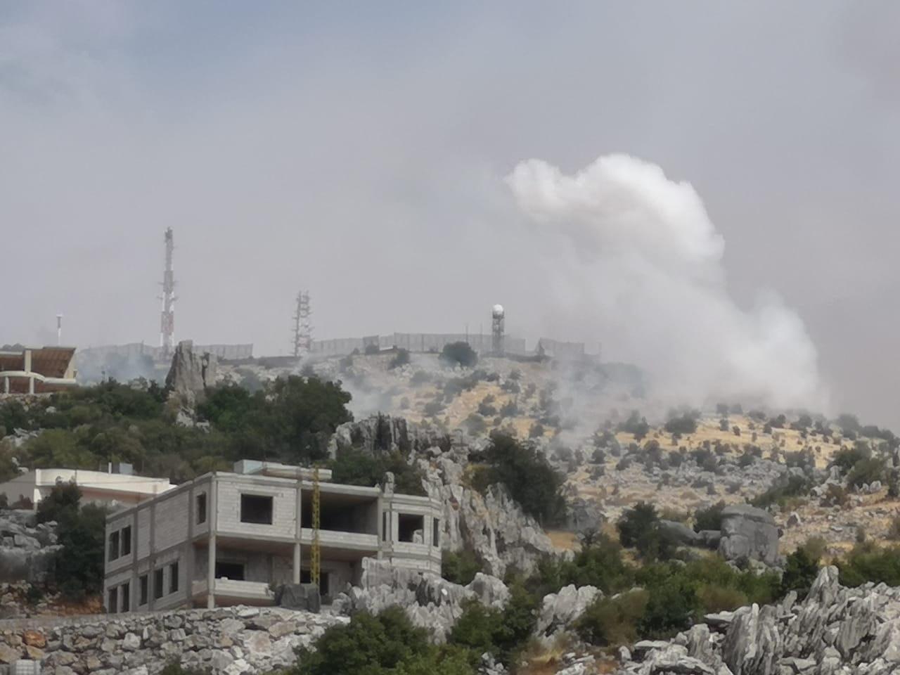 عکس  درگیری در مرزهای لبنان و اسرائیل