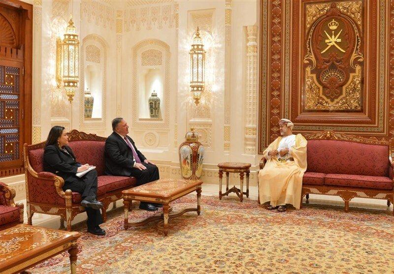 عکس | دیدار پمپئو با سلطان عمان