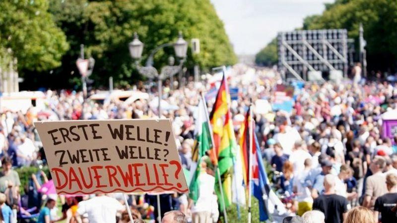 تظاهرات علیه محدودیتهای کرونا در آلمان/ بازداشت صدها نفر