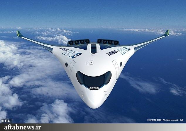 تصاویر| هواپیمای جدید ایرباس با سوخت هیدروژنی