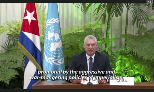 رییس جمهوری کوبا در مجمع عمومی سازمان ملل آمریکا را به باد انتقاد گرفت