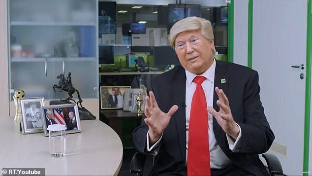 شبکه راشاتودی ترامپ را مسخره کرد؛این یک جعل عمیق است!/عکس