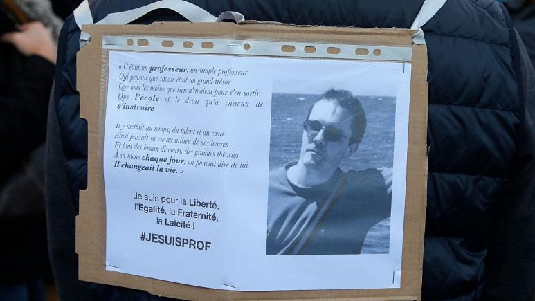 عملیات گسترده پلیس فرانسه درباره قتل دلخراش یک معلم