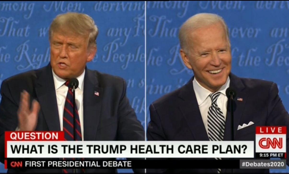 تصاویر  حاشیههای نخستین مناظره جنجالی ترامپ و بایدن