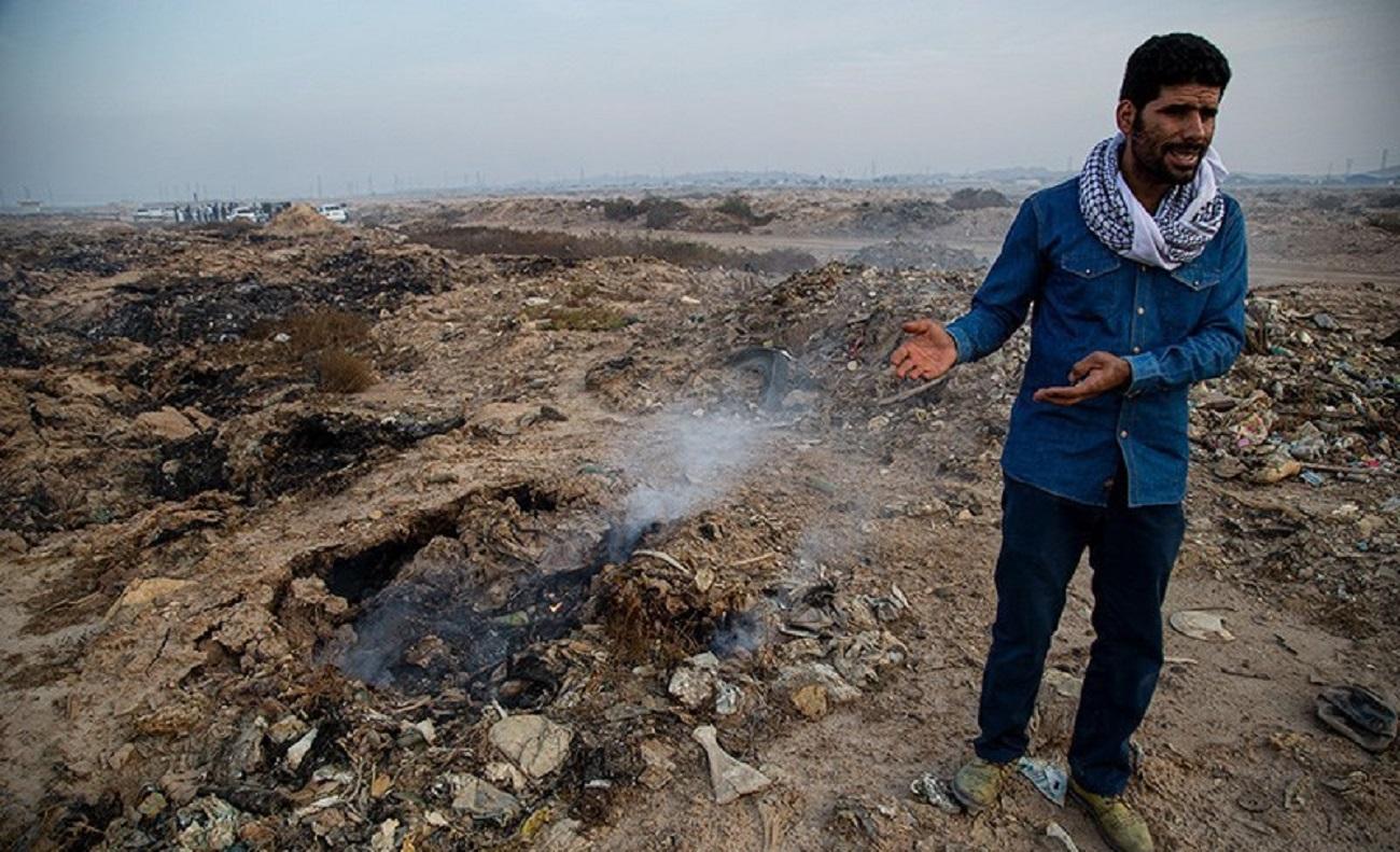تصاویر| غیزانیه اهواز در میان دود و آتش
