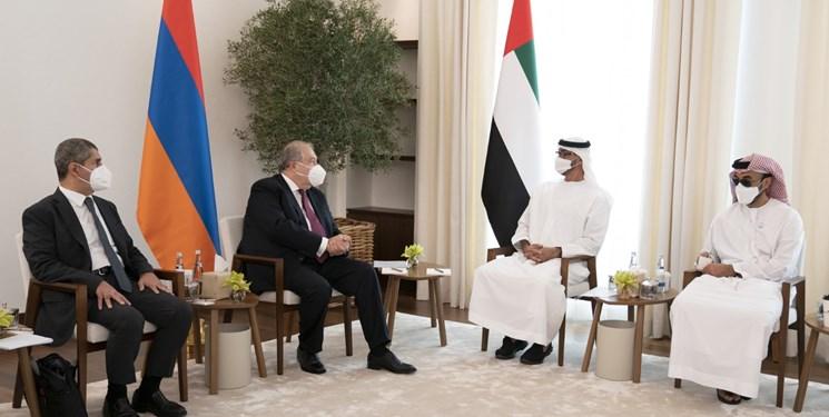 رئیسجمهور ارمنستان به دیدار سران امارات رفت